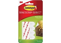 Command™ Poster Strips, White, 12/Pack (17024ES)