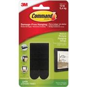 Command™ Medium Picture Hanging Strips, Black, 4 Pairs/Pack (17201BLK-ES)