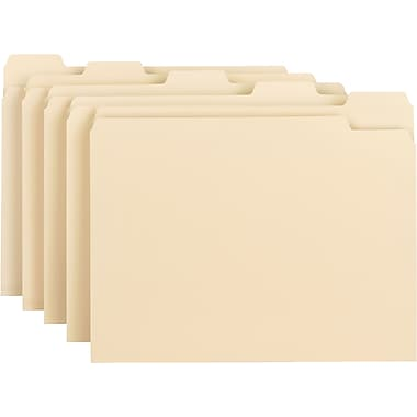 Smead® File Folder, 1/5-Cut Tab, Letter Size, Manila, 100/Box (10350)