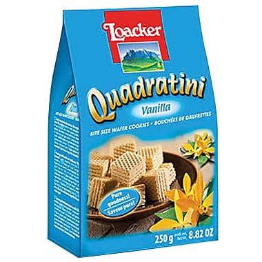 Loacker Quadratini Vanilla Wafer Cookies, 8.82 Oz., 8/CT