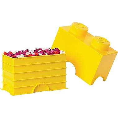 LEGO Storage Brick 2 Bright Yellow