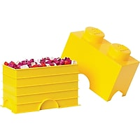 LEGO 2-stud Storage Brick (Yellow)