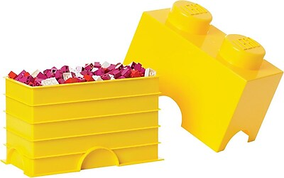 LEGO Storage Brick 2 Bright Yellow