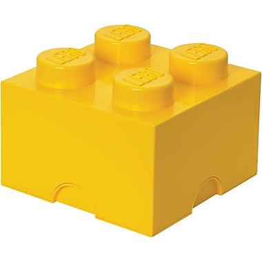 LEGO Storage Brick 4 Bright Yellow