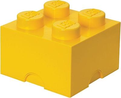 LEGO Storage Brick 4 Bright Yellow