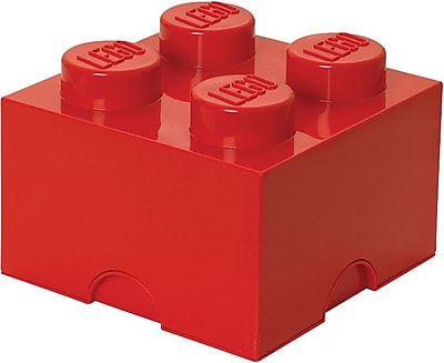 LEGO Storage Brick 4 Bright Red