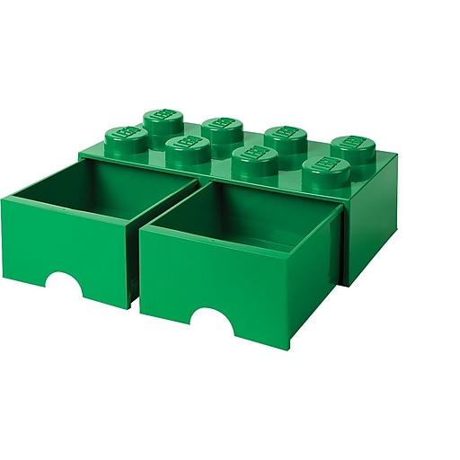 LEGO Storage Brick 8, Drawer, Dark Green (40067134)