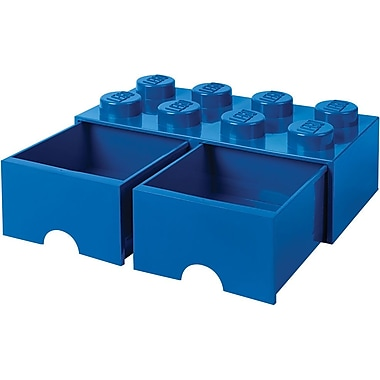 LEGO Storage Brick Drawer 8 Bright Blue
