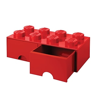LEGO Storage Brick Drawer 8 Bright Red