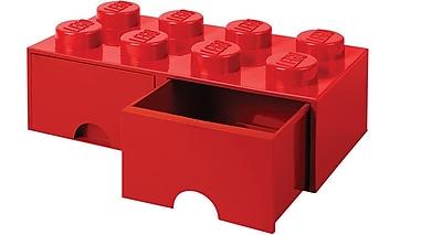LEGO Storage Brick Drawer 8 Bright Red 7.1