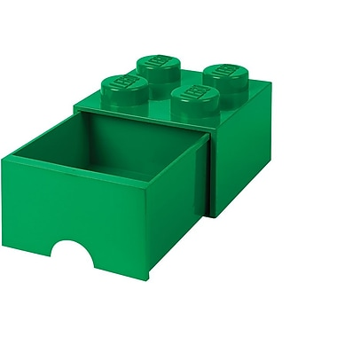 LEGO Storage Brick Drawer 4 Dark Green