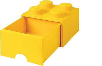 LEGO Storage Brick Drawer 4, Bright Yellow