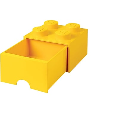 LEGO Storage Brick Drawer 4 Yellow