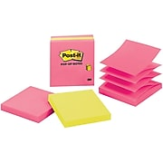 """Post-it® Pop-Up Note, 3"""" x 3"""", Jaipur Collection, 3 Pads/Pack (3301-3AU-FF)"""