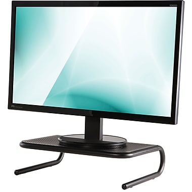 Staples Standard Steel Monitor Stand Black