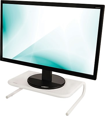 Staples Standard Steel Monitor Stand, White