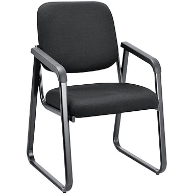 OfficeSource Value Guest Series Sled Base Chair with Arms (2708EBONY)