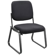 OfficeSource Value Guest Series Sled Base Chair without Arms, Ebony (2709EBONY)