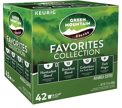 Keurig K-Cup Green Mountain Coffee Favorites Collection Variety Pack, 42 Count 2739899