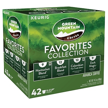 Keurig® K-Cup® Green Mountain® Favorites Collection Variety Pack, 42 Count