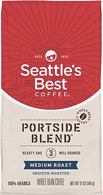 Seattle's Best Coffee® Portside Whole Bean Coffee, Regular, 12 oz. Bag