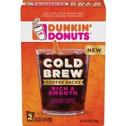 Dunkin' Donuts® Cold Brew Coffee Packs, 8.46 Oz. Packets, 2/Box (8133400988)