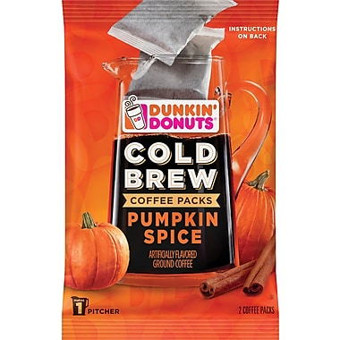 Dunkin' Donuts® Cold Brew Pumpkin Spice Coffee Packs, 8.46 oz., 2 Packets/Box