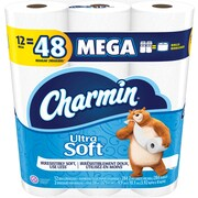 Charmin® Ultra Soft™ Toilet Paper, 2-Ply, 284 Sheets/Roll, 48 Mega Rolls/Carton (94050CT)