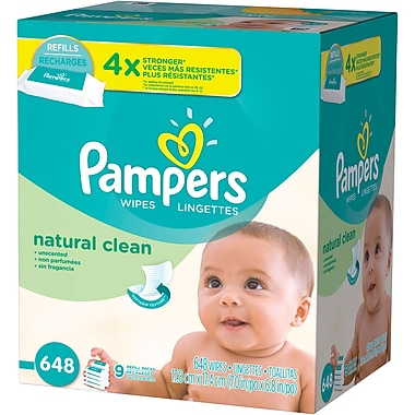 Pampers Natural Clean Baby Wipes Refill