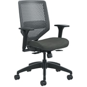 HON Solve ReActiv Back Fabric/Mesh Mid-Back Task Chair, Charcoal/Ink Seat Fabric (HONSVR1ACLC10TK) NEXT2017 NEXT2Day