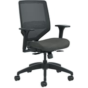 HON Solve ilira-Stretch Mesh Back Mid-Back Task Chair, Black/Ink Seat Fabric (HONSVM1ALC10TK) NEXT2017 NEXT2Day