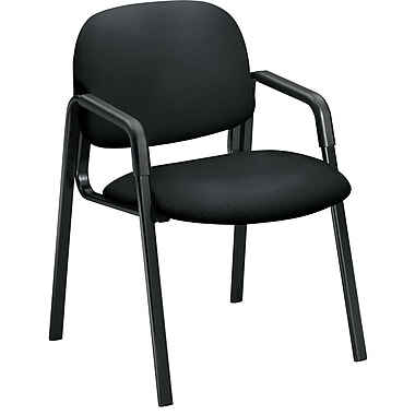 HON Solutions Seating Fabric Guest Chair, Black, Fixed Arms (HON4003CU10T) NEXT2017 NEXT2Day