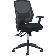 basyx by HON Crio Fabric/Mesh Asynchronous Mid-Back Task Chair, Black, Adjustable Arms (BSXVL582ES10T) NEXT2017 NEXT2Day