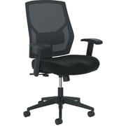 basyx by HON Crio Fabric/Mesh Swivel-Tilt Mid-Back Task Chair, Black, Adjustable Arms (BSXVL581ES10T) NEXT2017 NEXT2Day
