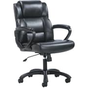 basyx by HON Mid-Back Executive Chair, Black SofThread Leather