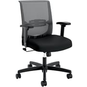 HON Convergence Fabric Task Chair, Height- and Width-Adjustable Arms, Black NEXT2018 NEXT2Day