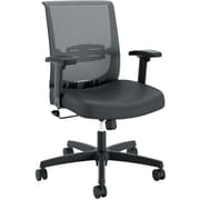 HON Convergence Vinyl Task Chair, Height- and Width-Adjustable Arms, Black NEXT2018 NEXT2Day