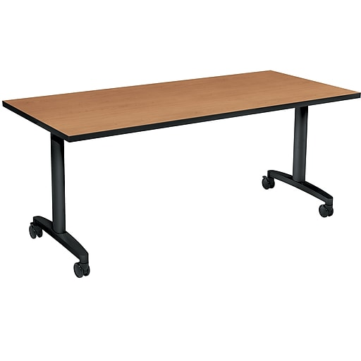 "HON Huddle Table, Fixed Base, Harvest Laminate, 72""W (HONHUD3072FXC)"