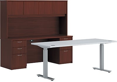 HON Office Suite Desking, Mahogany, 122