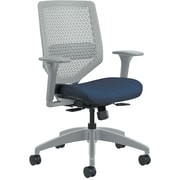 HON Solve Titanium ReActiv Back Fabric/Mesh Mid-Back Task Chair, Midnight Seat Fabric (HONSVR1AILC90TK)