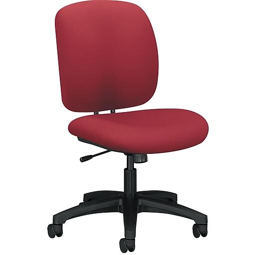 HON ComforTask Fabric Center-Tilt Work/Task Chair, Marsala, Armless (HON5902CU63T)
