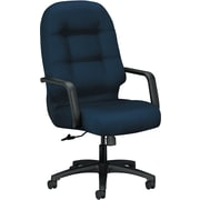 HON Pillow-Soft Fabric High-Back Executive Chair, Navy, Fixed Arms (HON2091CU98T)