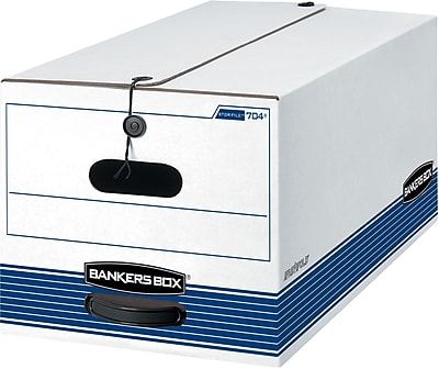 Bankers Box Stor/File Medium-Duty FastFold Storage Boxes with String & Button, Letter, 20/Ct (0070409)
