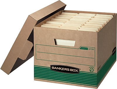 """Bankers Box Recycled Stor/File™ Letter/Legal, Lift-Off Lid, 10"""" x 12"""" x 15"""", 20/PK (FLLWS1277008)"""