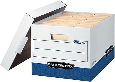 Bankers Box® R-Kive® - Letter/Legal, White/Blue, 20/PK