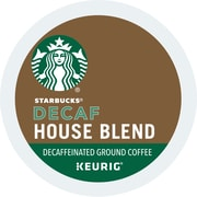 Starbucks® House Blend Decaf Coffee, Keurig® K-Cup® Pods, Medium Roast, Decaffeinated, 24/Box (736089)