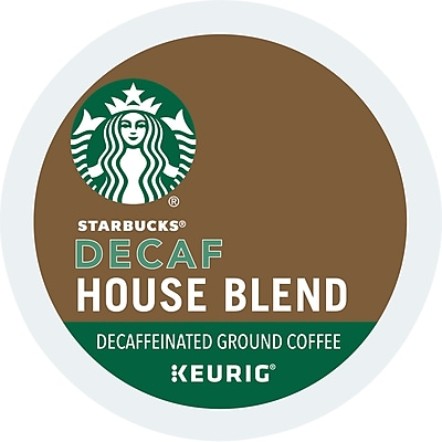 Starbucks® House Blend Decaf Coffee, Keurig® K-Cup® Pods, Medium Roast, Decaffeinated, 24/Box (736089)
