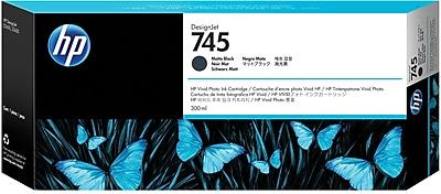HP 745 300-ml Matte Black DesignJet Ink Cartridge