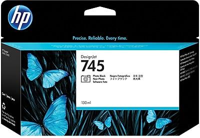 HP 745 130-ml Photo Black DesignJet Ink Cartridge