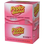 Pepto-Bismol® Caplets, 2 Caplets/Packet, 25 Packets/Box